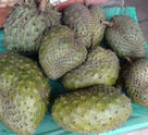 Sliced soursop