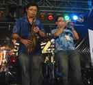 Jessel Yansalang and Gavin Nicholas of SIA Jazz Syndicate at the Kota Kinabalu Jazz Festival.