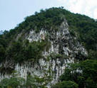 Cliff next to Deer Cave in Gunung Mulu National Park.