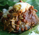 Nasi Lemak: More delicious Nasi Lemak in banana leaves.