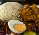 Nasi Lemak: Served with Beef Redang.
